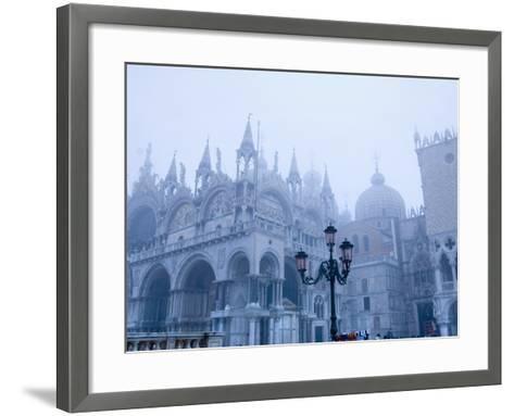 Fog Over the Basilica of San Marco in Venice--Framed Art Print