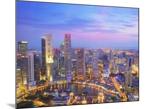 Singapore Skyline at Dusk-Paul Hardy-Mounted Photographic Print