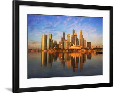 Singapore Skyline at Sunset-Paul Hardy-Framed Art Print