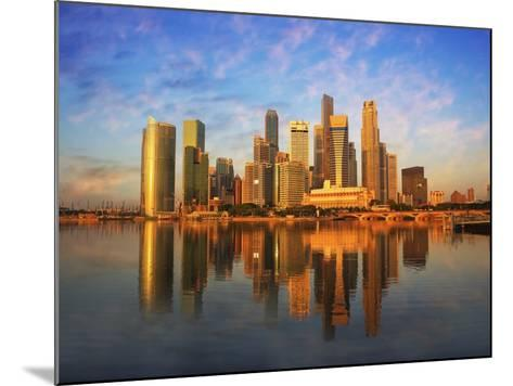 Singapore Skyline at Sunset-Paul Hardy-Mounted Photographic Print