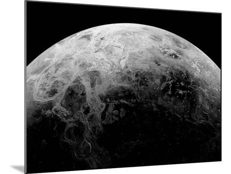 Radar View of the Southern Hemisphere of Venus-Michael Benson-Mounted Photographic Print
