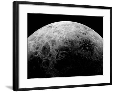 Radar View of the Southern Hemisphere of Venus-Michael Benson-Framed Art Print