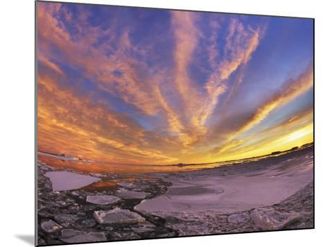 Drifting ice in Antarctica-Frank Krahmer-Mounted Photographic Print