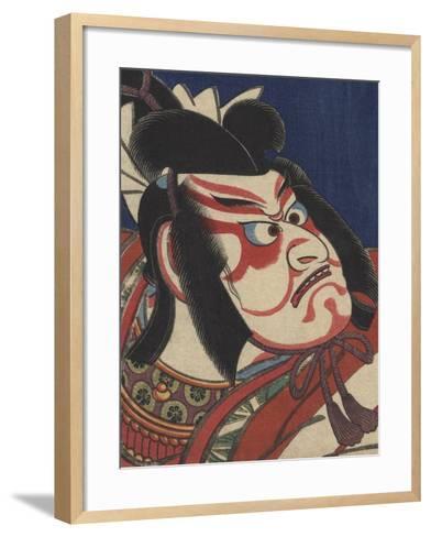 Detail of Two Kabuki Actors-Torii Kiyomitsu II and Toyokuni III-Framed Art Print