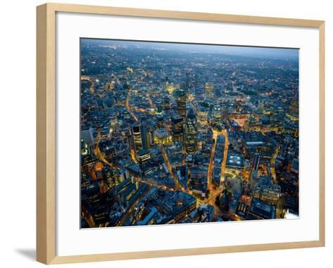 Aerial View of City of London-Jason Hawkes-Framed Art Print