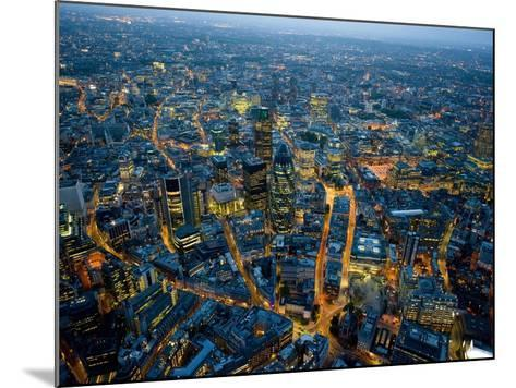 Aerial View of City of London-Jason Hawkes-Mounted Photographic Print