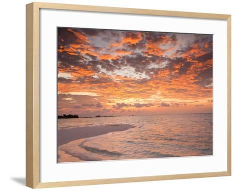 Sunrise over the Maldive Islands-Frank Lukasseck-Framed Art Print