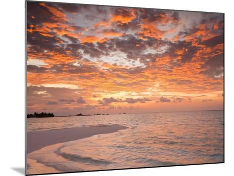 Sunrise over the Maldive Islands-Frank Lukasseck-Mounted Photographic Print