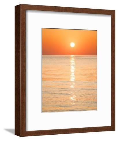Sunlight Reflecting on Ocean at Sunset-Frank Lukasseck-Framed Art Print