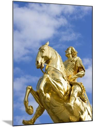Golden Rider Equestrian Statue in Dresden-Paul Seheult-Mounted Photographic Print