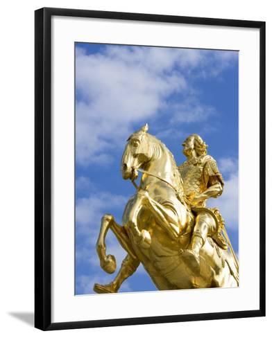 Golden Rider Equestrian Statue in Dresden-Paul Seheult-Framed Art Print