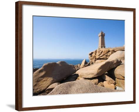 Ploumanach Lighthouse on the Cote de Granit Rose-Frank Lukasseck-Framed Art Print