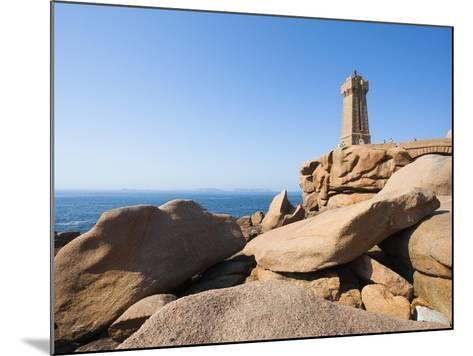 Ploumanach Lighthouse on the Cote de Granit Rose-Frank Lukasseck-Mounted Photographic Print