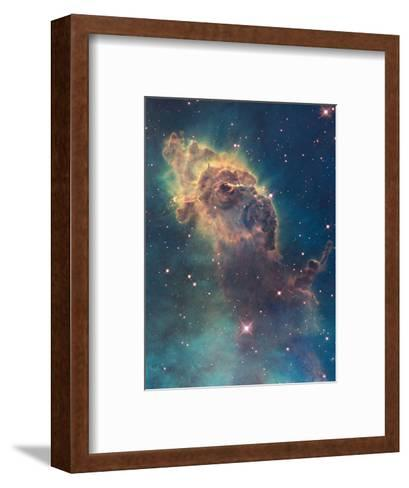 Star Birth in Carina Nebula from Hubble's Wfc3 Detector--Framed Art Print