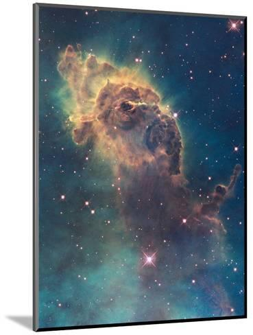 Star Birth in Carina Nebula from Hubble's Wfc3 Detector--Mounted Photographic Print