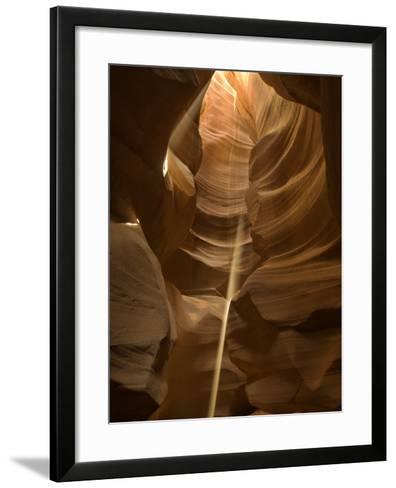 Sunbeam in Antelope Canyon-Kerrick James-Framed Art Print