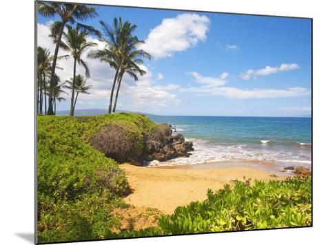 Secluded Po'olenalena Beach on Maui-Ron Dahlquist-Mounted Photographic Print