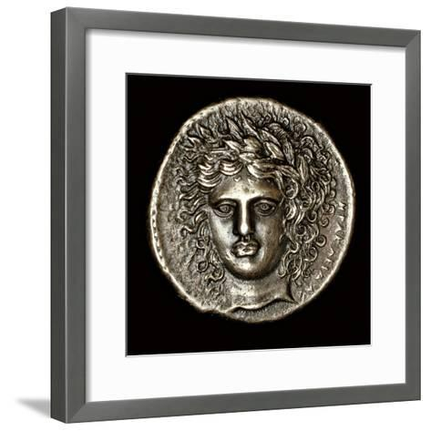 Ancient Greek Silver Tetradrachm with Head of Apollo--Framed Art Print