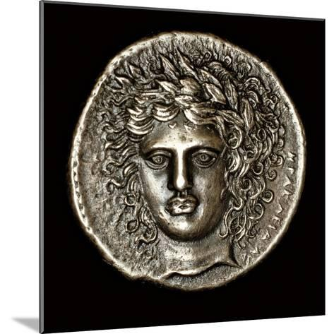 Ancient Greek Silver Tetradrachm with Head of Apollo--Mounted Photographic Print