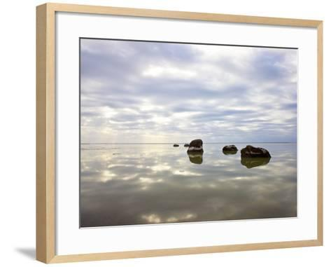 Sky Reflected in Water--Framed Art Print