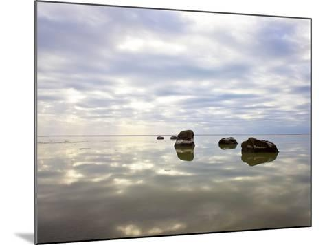 Sky Reflected in Water--Mounted Photographic Print