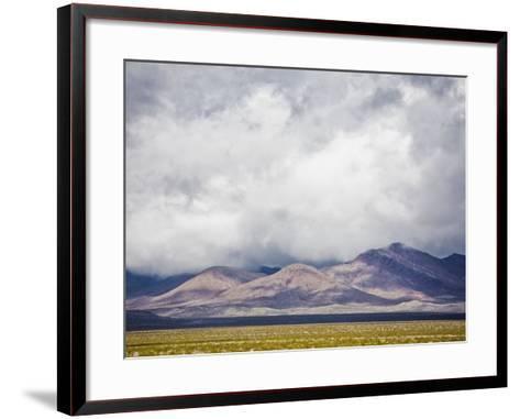 Stormy Sky over Death Valley Badlands-Rudy Sulgan-Framed Art Print