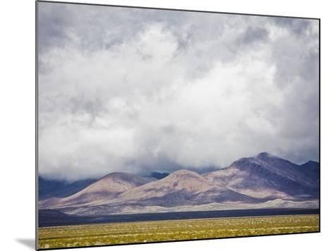 Stormy Sky over Death Valley Badlands-Rudy Sulgan-Mounted Photographic Print