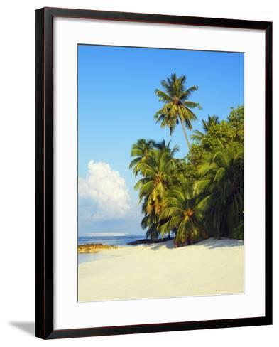 Beach at Soneva Fushi Resort in the Baa Atoll-Frank Krahmer-Framed Art Print