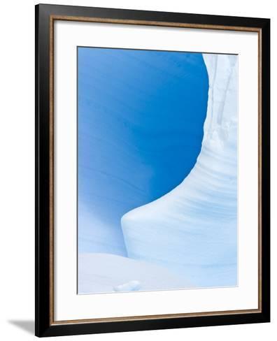 Blue Cave in Iceberg Sculpted by Waves-John Eastcott & Yva Momatiuk-Framed Art Print