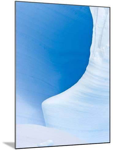 Blue Cave in Iceberg Sculpted by Waves-John Eastcott & Yva Momatiuk-Mounted Photographic Print