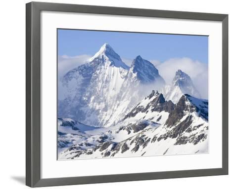 Snowy Mountains of Allardyce Range-John Eastcott & Yva Momatiuk-Framed Art Print