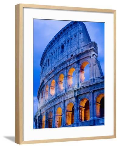 Colosseum at Dusk-Bob Krist-Framed Art Print