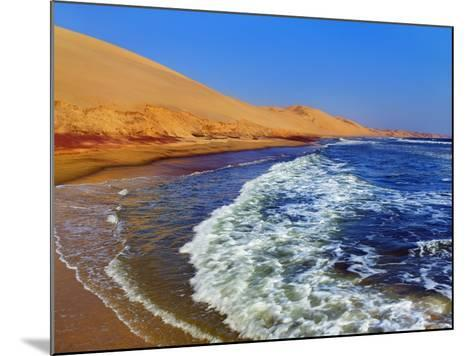 Waves Rolling into Shore in Sandwich Harbor-Frank Krahmer-Mounted Photographic Print