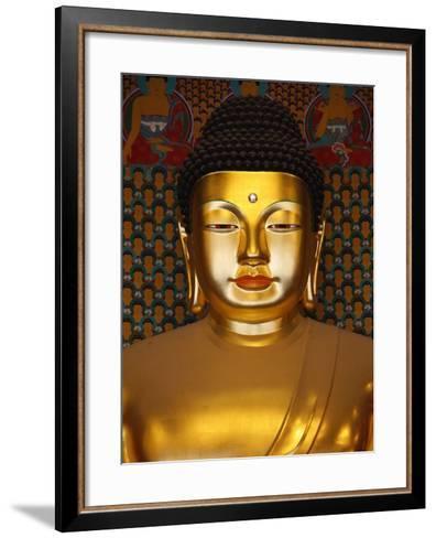 Detail of Sakyamuni Buddha Statue in Main Hall of Jogyesa Temple-Pascal Deloche-Framed Art Print