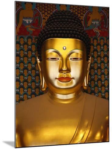 Detail of Sakyamuni Buddha Statue in Main Hall of Jogyesa Temple-Pascal Deloche-Mounted Photographic Print