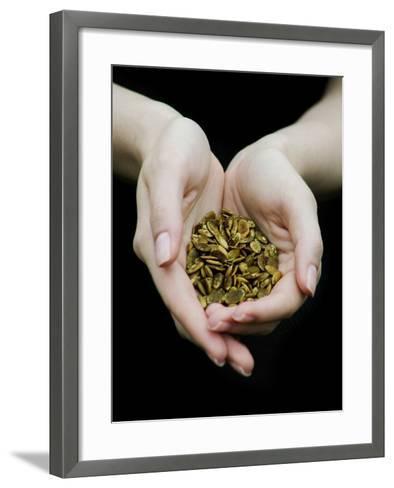 Handful of Pumpkin Seeds-Elisa Lazo De Valdez-Framed Art Print
