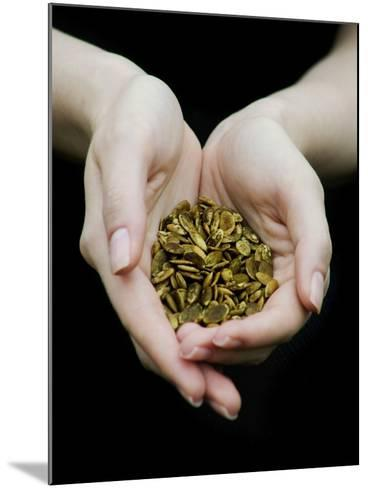 Handful of Pumpkin Seeds-Elisa Lazo De Valdez-Mounted Photographic Print