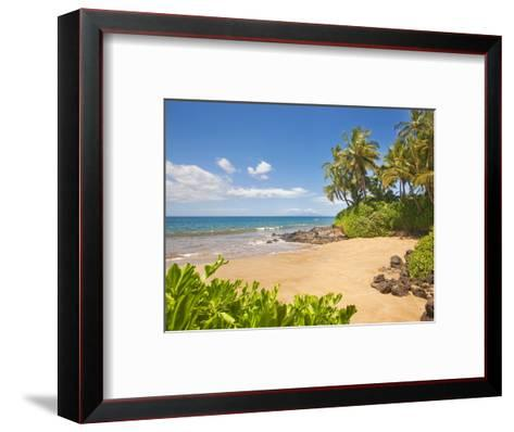 Secluded sandy beach on Maui-Ron Dahlquist-Framed Art Print