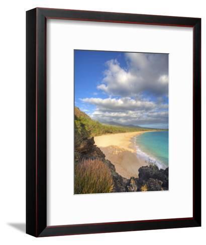 Oneloa Beach in Makena State Park on Maui-Ron Dahlquist-Framed Art Print