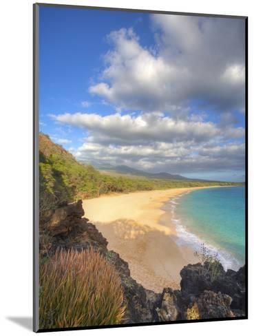 Oneloa Beach in Makena State Park on Maui-Ron Dahlquist-Mounted Photographic Print