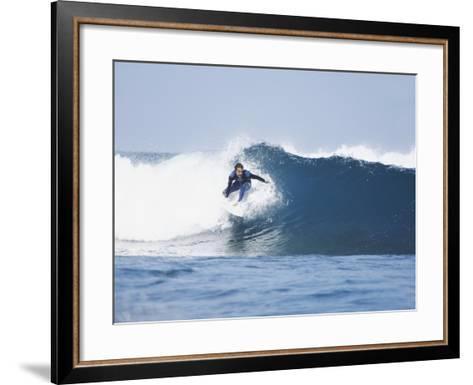 Surfer-Olivier Cadeaux-Framed Art Print