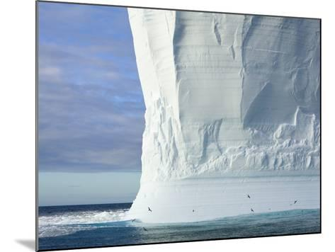 Massive Tabular Iceberg  Sculpted by Waves-John Eastcott & Yva Momatiuk-Mounted Photographic Print