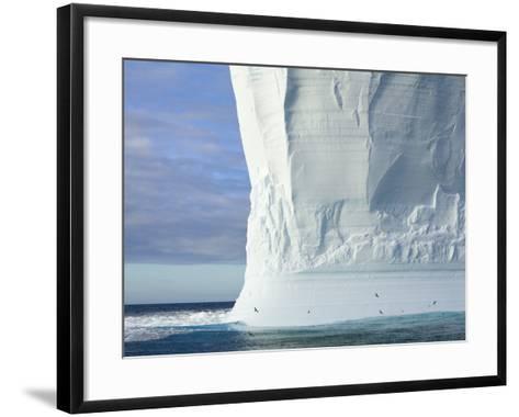 Massive Tabular Iceberg  Sculpted by Waves-John Eastcott & Yva Momatiuk-Framed Art Print