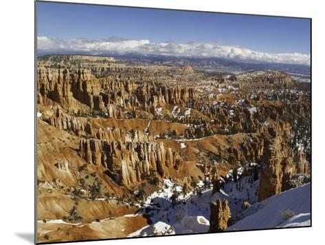 Snow at Sunset Point in Bryce Canyon National Park-Danny Lehman-Mounted Photographic Print