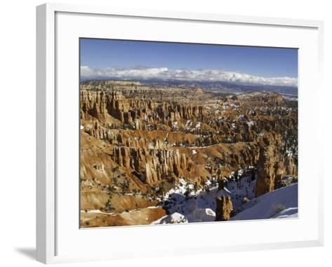 Snow at Sunset Point in Bryce Canyon National Park-Danny Lehman-Framed Art Print