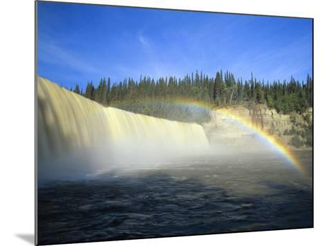Lady Evelyn Falls on Kakisa River Near Kakisa, Northwest Territories, Canada-Mike Grandmaison-Mounted Photographic Print
