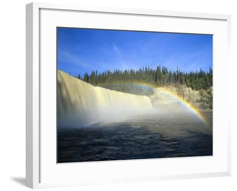 Lady Evelyn Falls on Kakisa River Near Kakisa, Northwest Territories, Canada-Mike Grandmaison-Framed Art Print