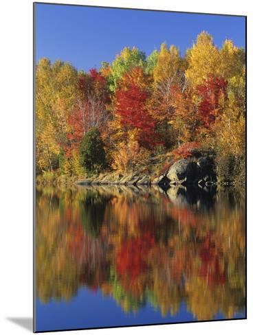 Simon Lake Reflection, Naughton, Ontario, Canada-Mike Grandmaison-Mounted Photographic Print