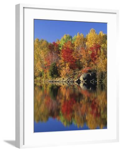 Simon Lake Reflection, Naughton, Ontario, Canada-Mike Grandmaison-Framed Art Print