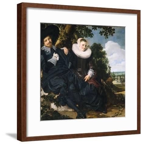 Marriage Portrait of Isaac Massa and Beatrix van der Laen-Frans Hals the Elder-Framed Art Print